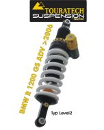 Touratech Suspension ressort-amortisseur *arrière* pour BMW R1200GS ADV (2006-2013) de type *Level2*