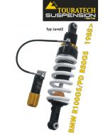 Touratech Suspension ressort-amortisseur pour BMW R100GS/PD & R80GS á partir de 1988 de type *Level2/ExploreHP