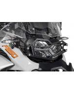 Protection de phare inox noire à attache rapide pour BMW F850GS Adventure *OFFROAD USE ONLY*
