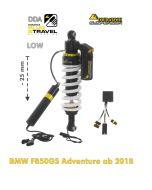 Touratech Suspension Ressort-amortisseur abaissement -25mm pour BMW F850GS Adventure à partir de 2018 DDA / Plug & Travel