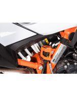 Protection pour réservoir de liquide, de frein arrière, orange pour KTM 890 Adventure/ 890 Adventure R/ 790 Adventure / Adventure R/ 1290 Super Adventure (2021-)