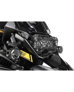 Protection de phare inox noire à attache rapide pour phare DEL pour BMW R1250GS/ R1250GS Adventure  *OFFROAD USE ONLY*