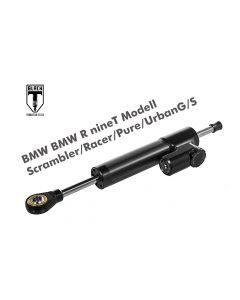 Black-T amortisseur de direction *CSC* pour BMW RnineT Modell Scrambler/Racer/Pure/UrbanG/S à partir de 2016, y compris kit de montage