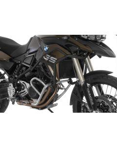 Extension de l'arceau de protection acier inoxydable noir pour BMW F700GS, F800GS à partir de 2013