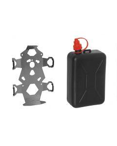 ZEGA Pro/ZEGA Mundo set de support accessoires, adaptateur jerrican incl. bidon d'huile Touratech 2 litres