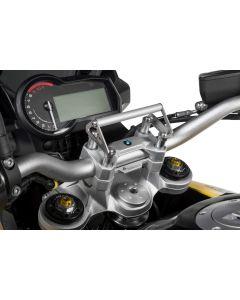 Adaptateur GPS pour rehausse de guidon 20 mm BMW F850GS / F850GS Adventure pour montage aux supports du guidon support pour systèmes de navigation