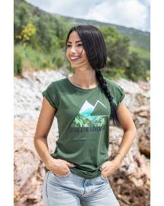 """T-Shirt """"Triangle View"""" pour femme, khaki"""