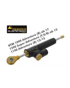 Touratech Suspension amortisseur de direction «Constant Safety Control» pour KTM 1090 Adventure (R) ab 17/1290 Super Adventure (T/S/R) ab 15/1190 Adventure (R) 13-15, y compris kit de montage