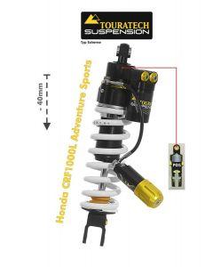 Ressort-amortisseur Touratech Suspension -40mm pour la Honda CRF1000L Adventure Sports à partir de 2018 Type Extreme