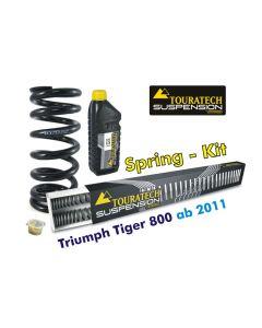 Ressorts de rechange progressifs Hyperpro pour fourche et ressort-amortisseur, Triumph Tiger 800 (2011-2014) *ressort de rechange*