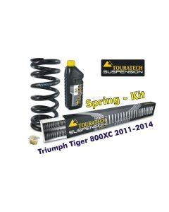 Ressorts de rechange progressifs pour fourche et ressort-amortisseur Triumph Tiger 800XC 2011-2014 *ressort de rechange*