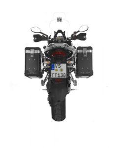 ZEGA Pro2 système de coffre aluminium 31/31 litres avec support acier inoxydable pour Ducati Multistrada 1200 jusqu'a 2014