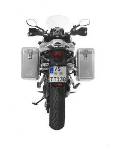 ZEGA Mundo système de coffre aluminium 31/31 litres avec support acier inoxydable pour Ducati Multistrada jusqu'a 2014