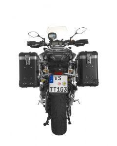 ZEGA Pro2 système de coffre aluminium 31/31 litres avec support acier inoxydable pour Yamaha MT-09 Tracer (2015-2017)