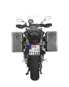 ZEGA Mundo système de coffre aluminium 31/31 litres avec support acier inoxydable pour Yamaha MT-09 Tracer (2015-2017)
