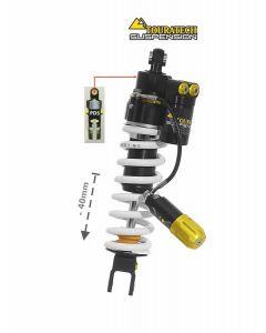 Ressort-amortisseur Touratech Suspension -40mm pour la Honda CRF1100L Adventure Sports (sans EERA) à partir de 2020 Type Extreme