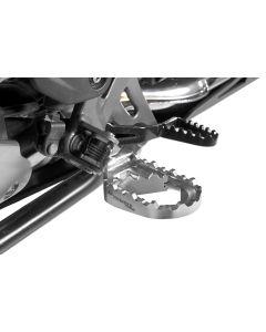 Repose-pieds spécial baroudeurs *Works*, basse pour BMW R1250GS/ R1250GS Adventure/ R1200GS de 2013/ R1200GS Adventure de 2014/ F850GS/ F850GS Adventure/ F750GS