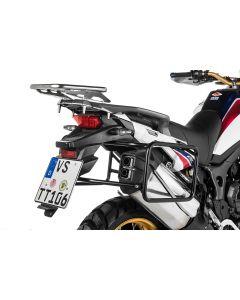 Porte-bagages en acier inoxydable, noir pour Honda CRF1000L Africa Twin (2015-2017)